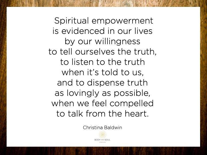 Bereidheid om waarheid te spreken én te horen.