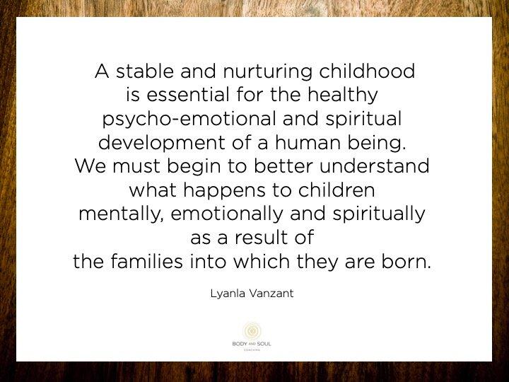 Het belang van onze kindertijd.